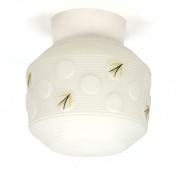 Vintage glass fifties ceiling lamp