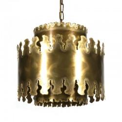 Vintage brass pendant lamp design Svend Aage Holm Sorensen