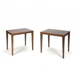 Danish set Severin Hansen tables in rosewood
