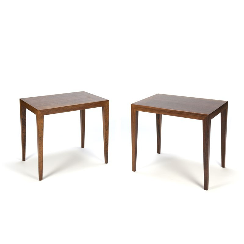 Danish set Severin Hansen tables in rosewood