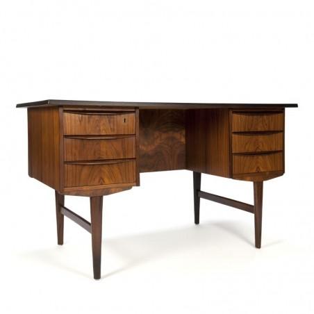 Danish rosewood design desk