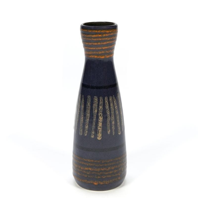 Dark blue vintage West Germany vase