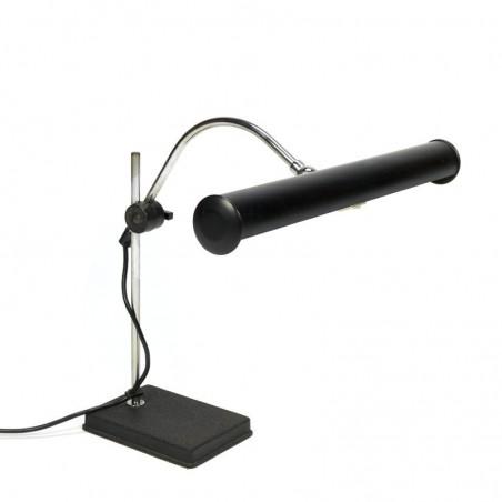 Vintage bureaulamp met zwarte kap