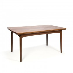 Danish teak wooden extandable vintage dining table