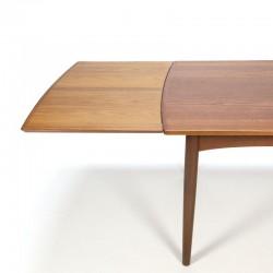 Danish teak wooden extandable vintage dining table