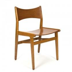 Deense vintage houten eettafel stoel
