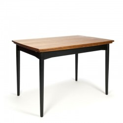 Danish vintage dining table with black base