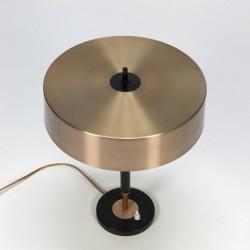 Vintage design bureaulamp met koperkleurige kap