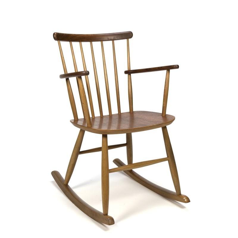 Deense vintage schommelstoel merk Billund