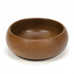 Large vintage bowl of teak wood