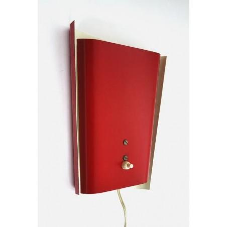 Rode jaren 50 wandlamp