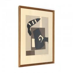 Vintage silk screen by Mogens Andersen
