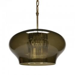 Vintage hanglamp merk Orrefors design Carl Fagerlund