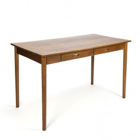 Vintage Danish oak work table or desk
