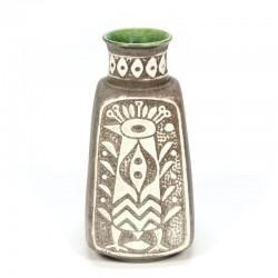 Vintage aardewerken vaas merk Bay