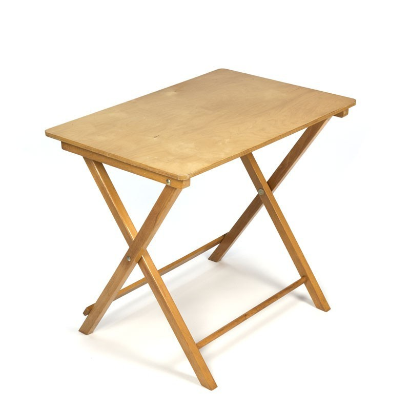 Vintage beech folding child table