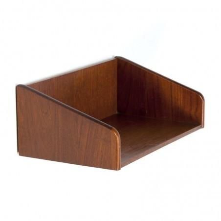 Danish vintage wall shelf of teak wood