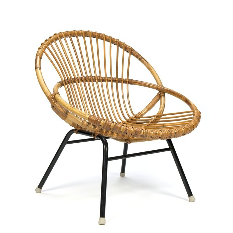 Vintage small model rattan armchair