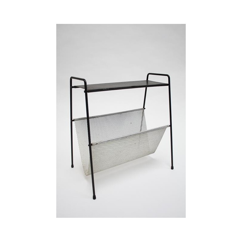 Metal magazine rack black/ white