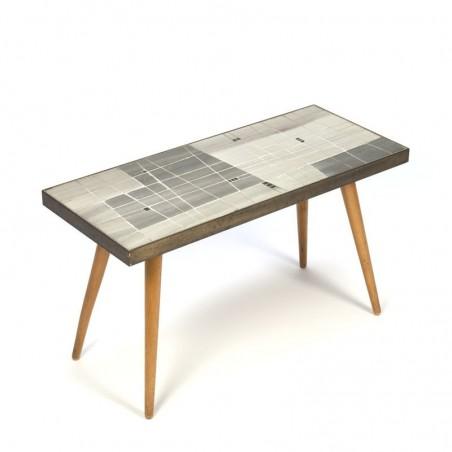 Vintage klein tafeltje met mozaiek jaren vijftig
