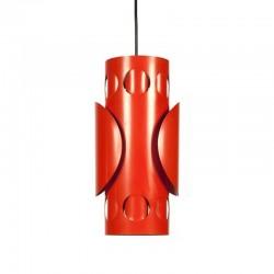 Vintage metalen oranje hanglamp