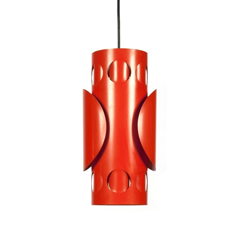 Vintage metal orange pendant lamp