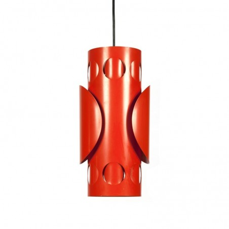 Vintage metal orange pendant lamp