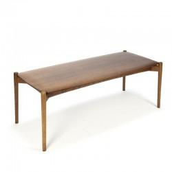 Vintage design coffee table teak top
