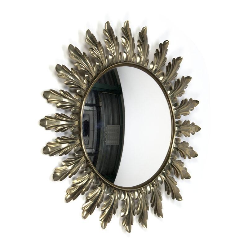 vintage spiegel messing in zon vorm. Black Bedroom Furniture Sets. Home Design Ideas