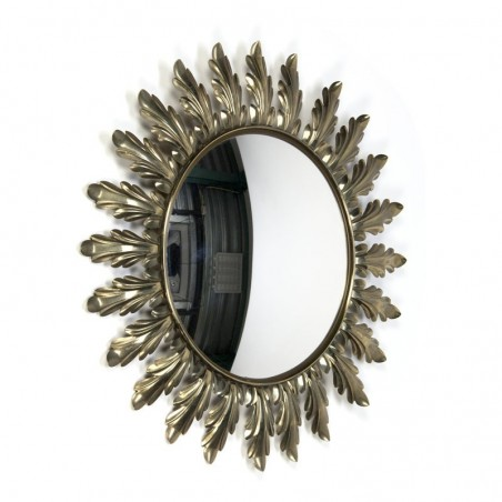 Vintage mirror brass in sun shape