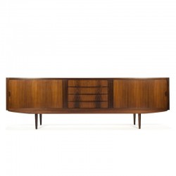 Extra lang vintage palissanderhouten dressoir