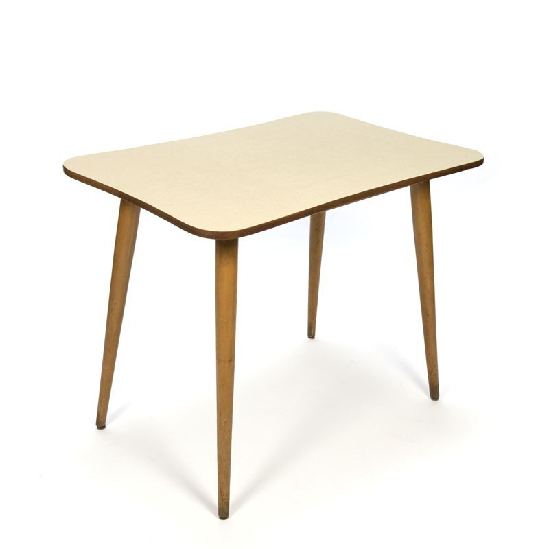 Vintage kitchen table with yellow formica top