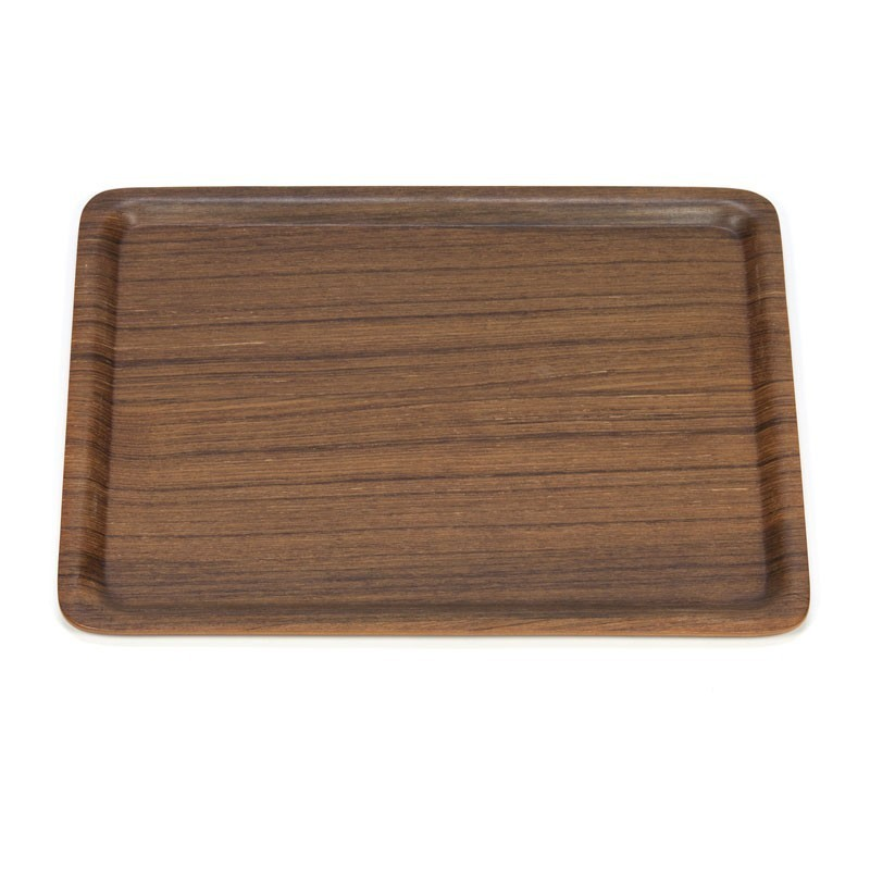 Vintage tray in teak rectangular