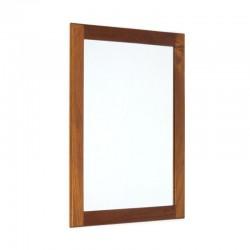 Deense kleine teakhouten spiegel
