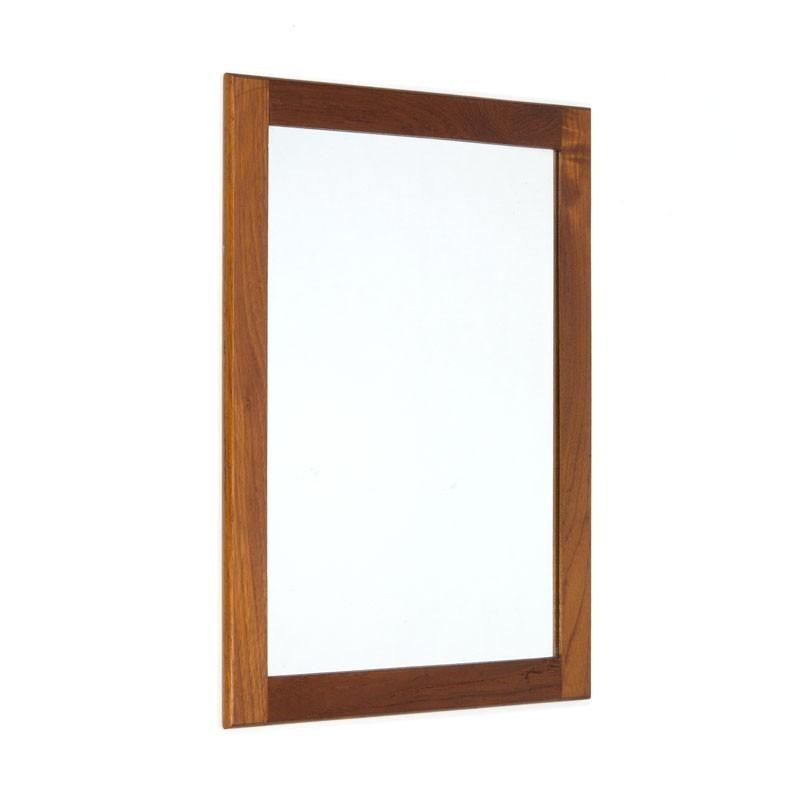Danish small teak mirror