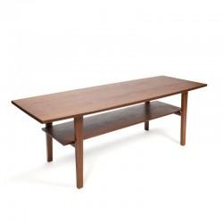 Large vintage Danish teak coffee table
