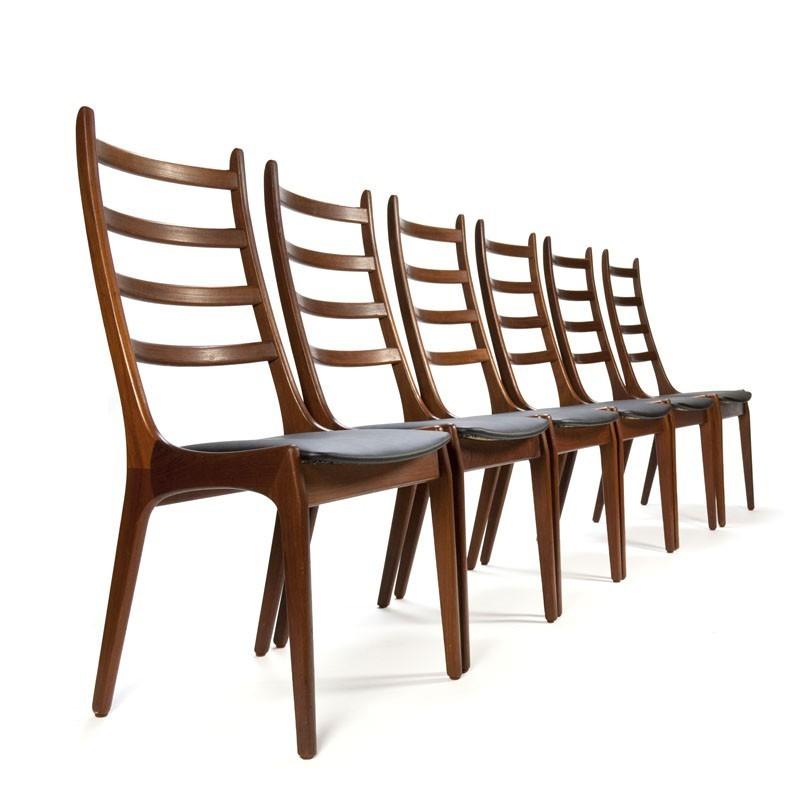 Vintage set van 6 Kai Kristiansen stoelen