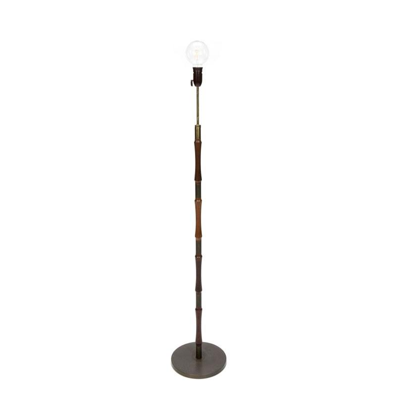 Danish vintage rosewood standing lamp