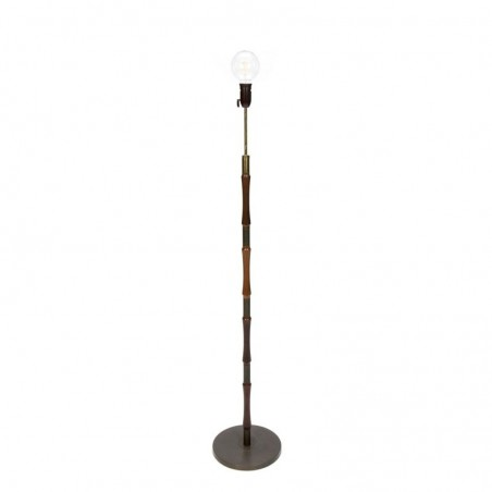 Deense vintage palissander houten staande lamp