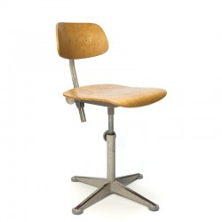 Vintage gray architect chair design Friso Kramer