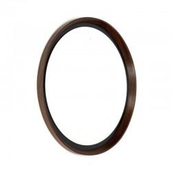Round vintage mirror wenge wood