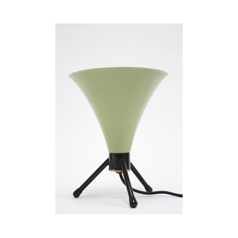 Groen/ zwarte tafellamp uit de 50's