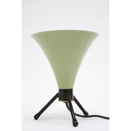 Green/ black table lamp from the 50's