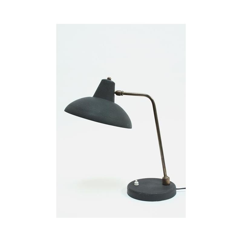 Bureaulamp zwart/ koper