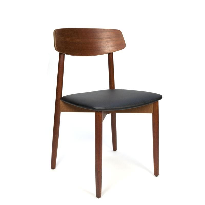 Danish vintage dining chair solid teak wood