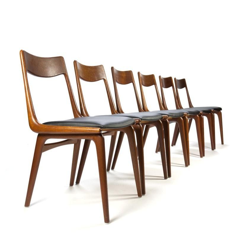 Vintage set boomerang stoelen ontwerp erik christensen for Vintage stoelen