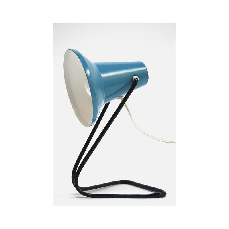 Blauwe jaren 60 tafellamp