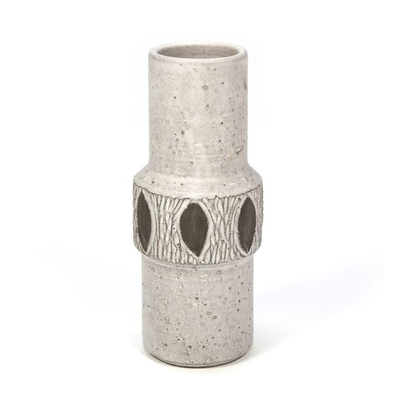 Deense vintage aardewerk vaas merk Lovemose