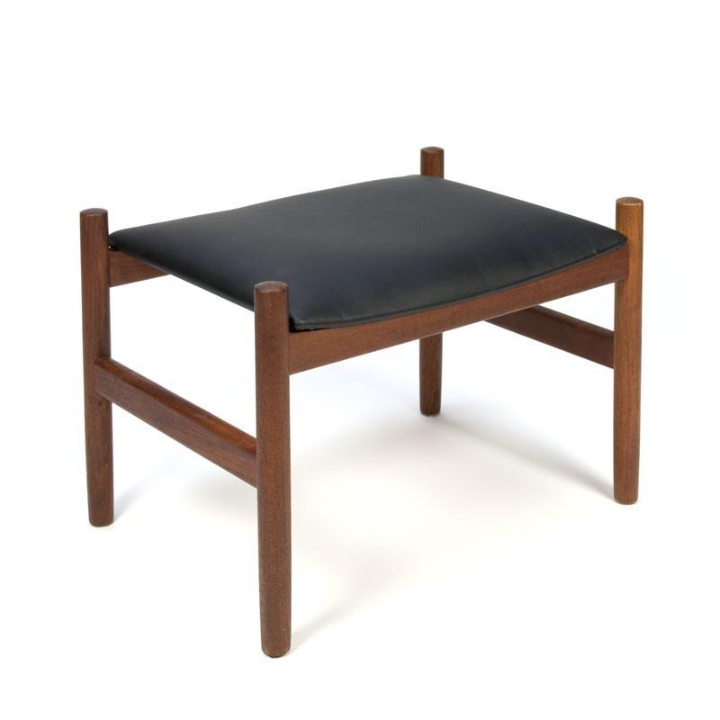 Deense vintage ottoman poef merk spottrup retro studio for Merk stoelen