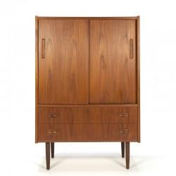 Teak narrow model vintage Danish cabinet